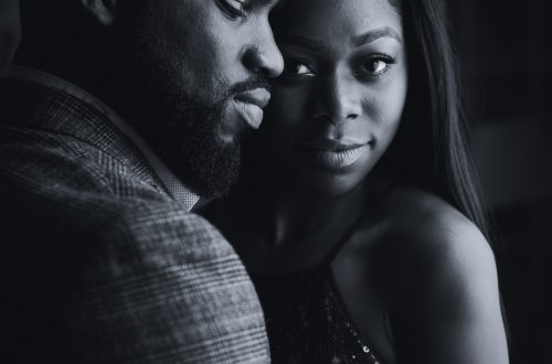 black couple engagement shoot 3 500x330 - Couples Gallery