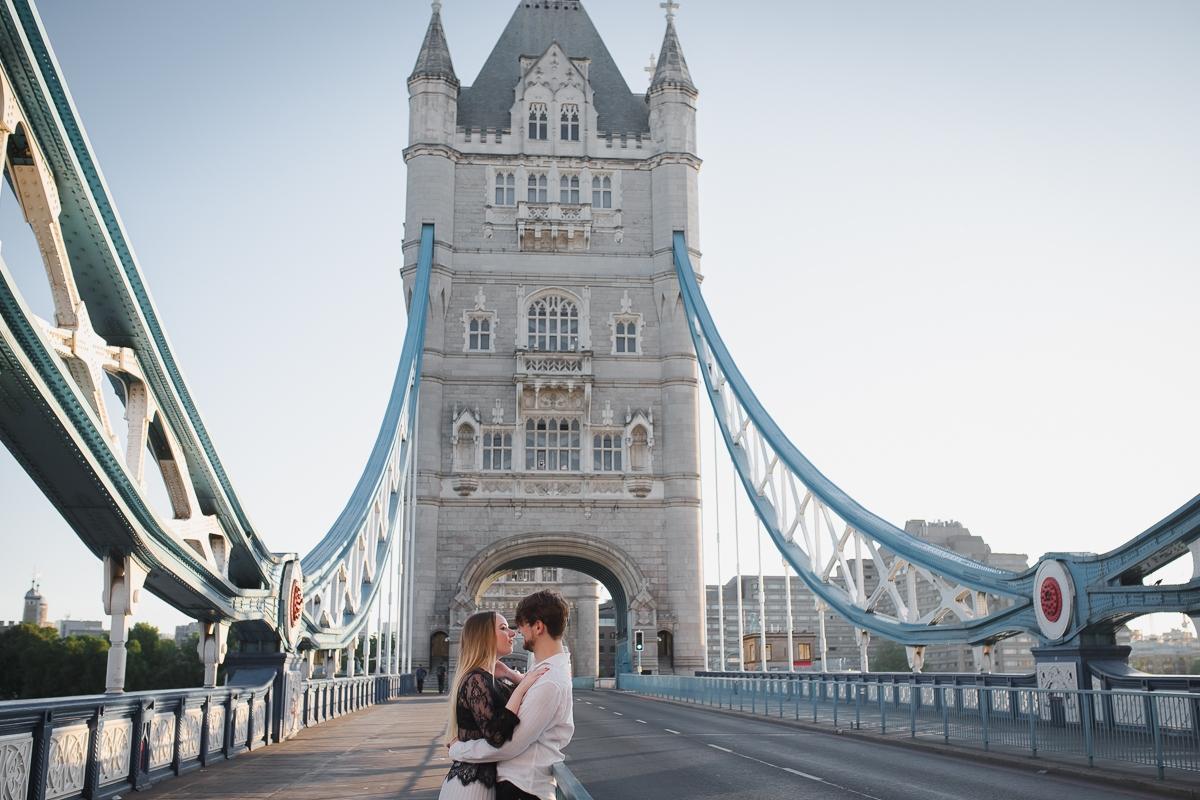 Romantic Tower Bridge London Engagement shoot 19 1 - Romantic Tower Bridge London Engagement Shoot