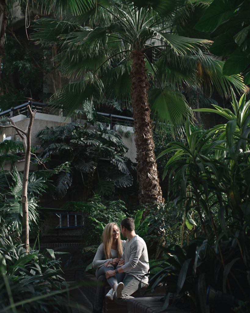 Engagement shoot at Barbican Conservatory 19 819x1024 - Engagement Photo shoot - Barbican | London