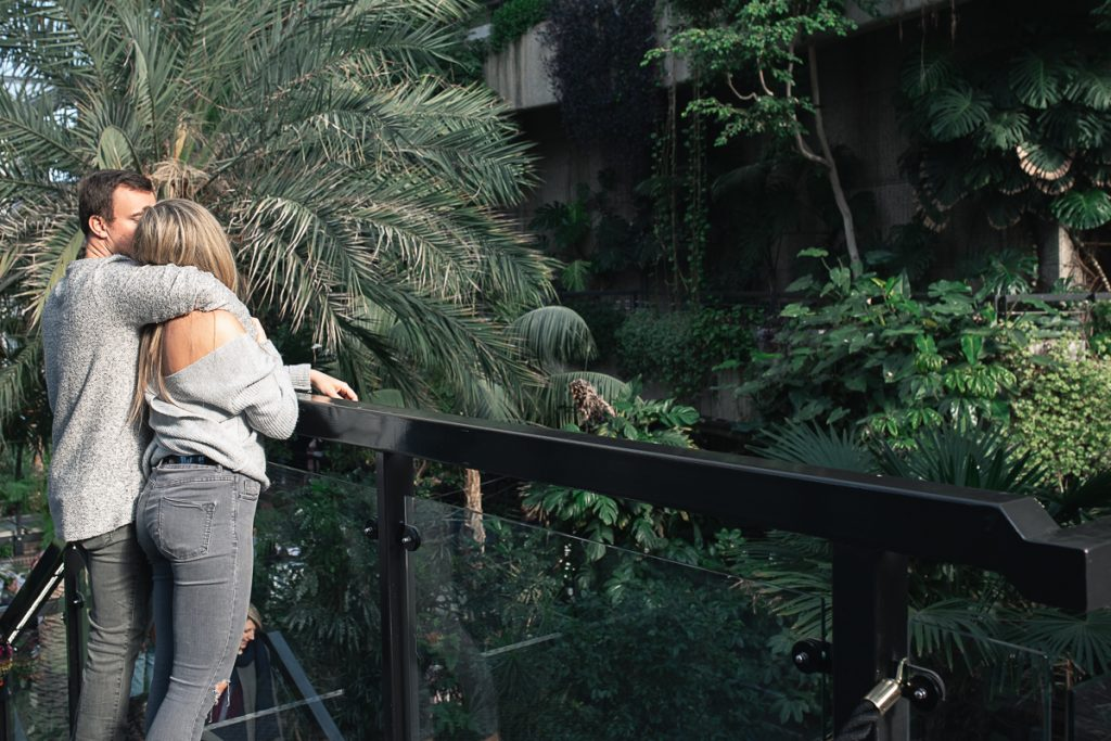 Engagement shoot at Barbican Conservatory 35 1024x683 - Engagement Photo shoot - Barbican | London