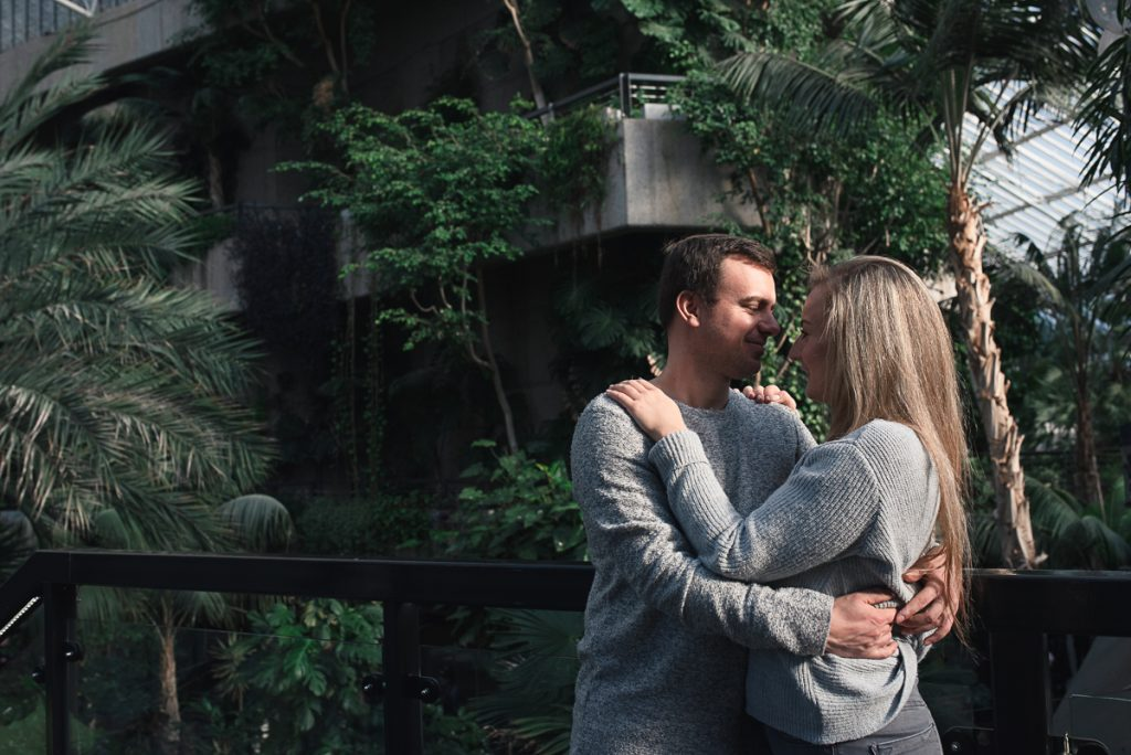Engagement shoot at Barbican Conservatory 38 1024x684 - Engagement Photo shoot - Barbican | London