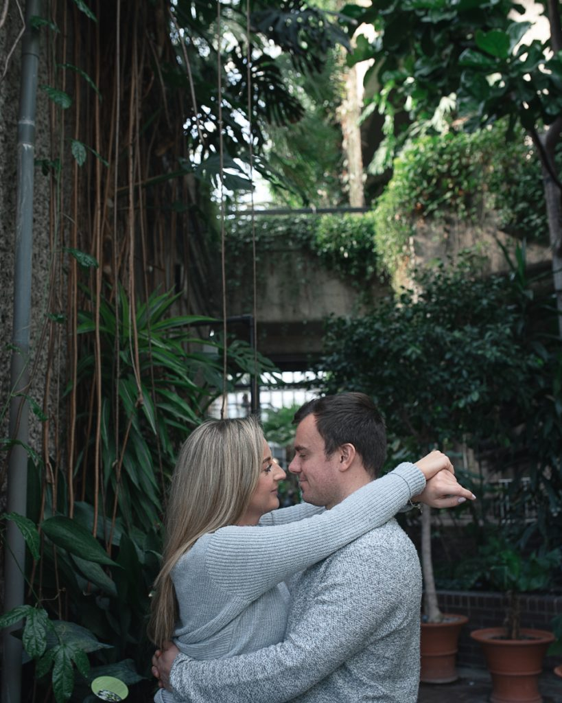 Engagement shoot at Barbican Conservatory 51 819x1024 - Engagement Photo shoot - Barbican | London