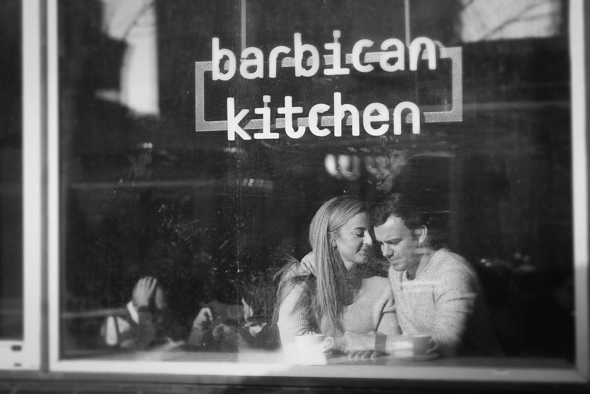 Engagement shoot at Barbican